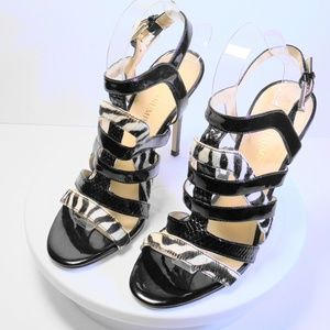 Ivanka Trump- Patent Leather Strappy Heels Size 8